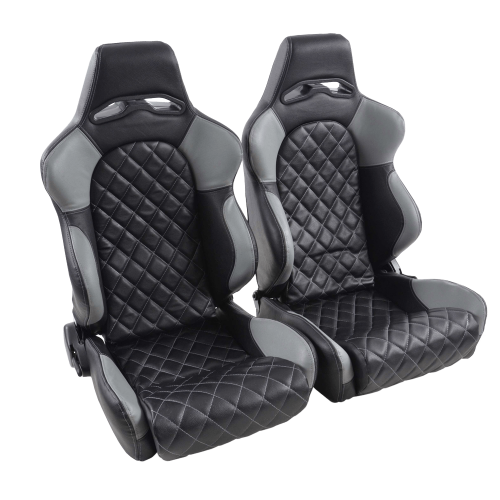 Portseat Set Artificial Leather Black